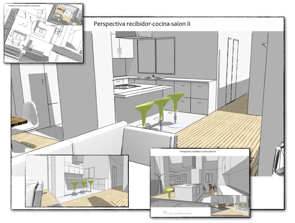 Proyecto de asesor a distribuci n de una vivienda - Interiorismo de casas ...