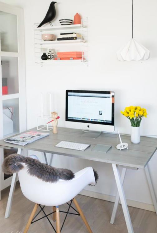 Living + estudio en estilo nu00f3rdico : Mi casa no es de muu00f1ecas : Blog ...