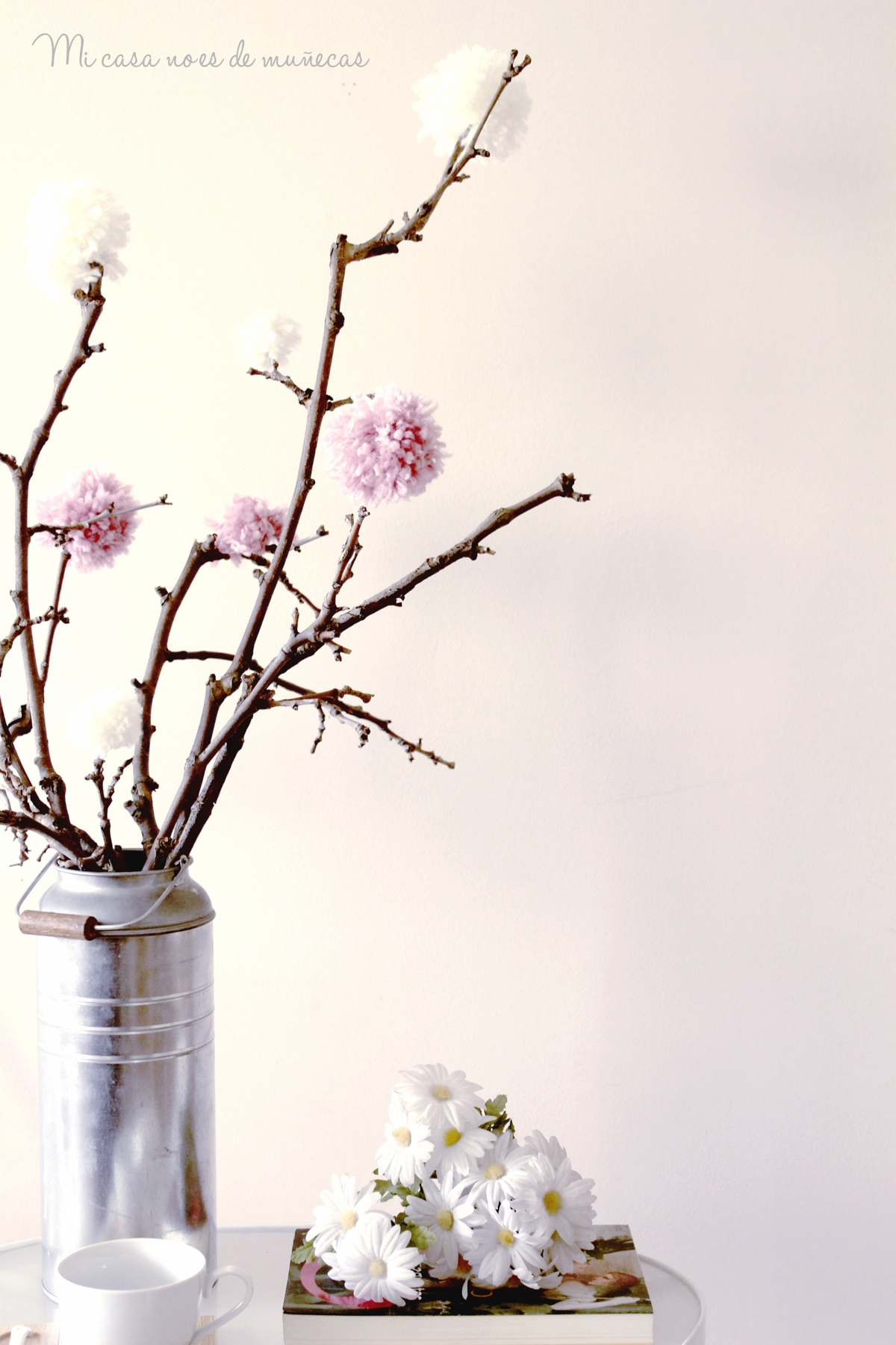 Arbol de ramas y pompones 10