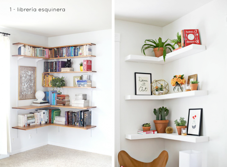 Cinco ideas para aprovechar esquinas mi casa no es de for Ideas interiorismo