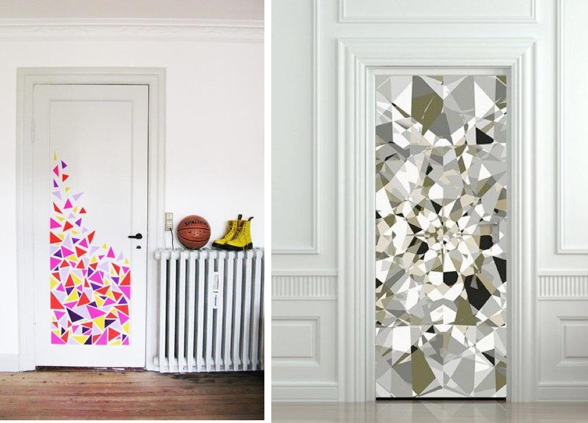 Decorar las puertas de armarios selecci n de papeles - Decorar cristales de puertas ...