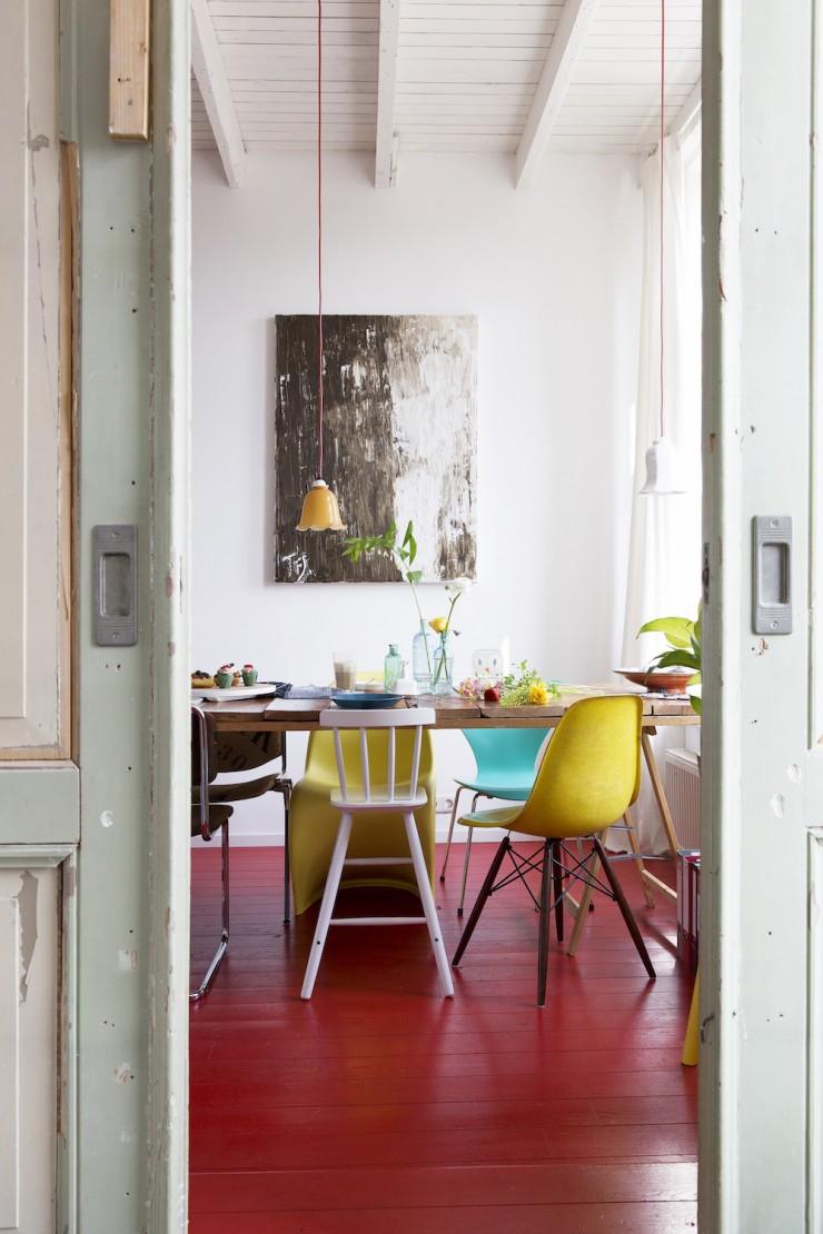 Casas y espacios nicos category mi casa no es de for Decoracion piso rojo
