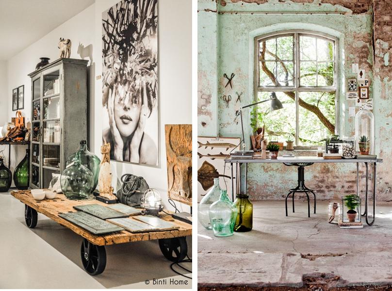 3 estancias y 3 estilos mi casa no es de mu ecas blog - Recibidor industrial ...