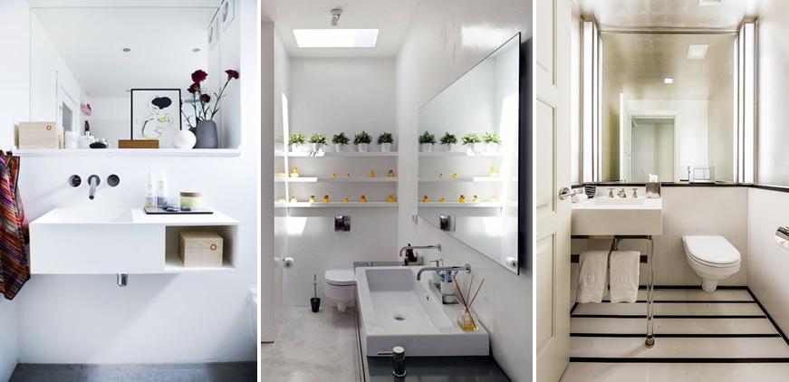 Ideas para ba os peque os mi casa no es de mu ecas for Aseos pequenos modernos