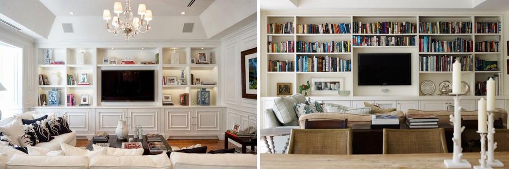 Opciones para poner la tele en el sal n mi casa no es de for Librerias en salones