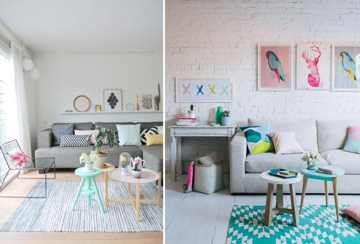 Mesas de centro ideales para salones peque os mi casa no - Decoracion industrial online ...