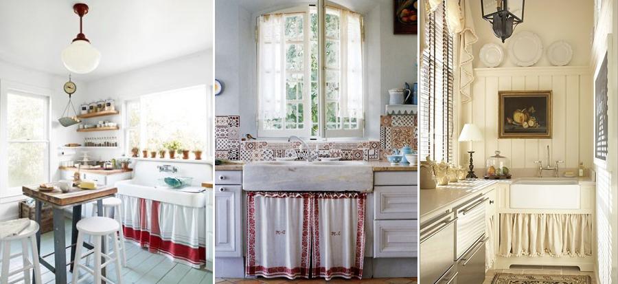 Cortinas bajo el fregadero mi casa no es de mu ecas for Muebles de cocina con cortinas