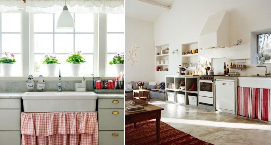 Cortinas bajo el fregadero mi casa no es de mu ecas for Cortinas para muebles de cocina