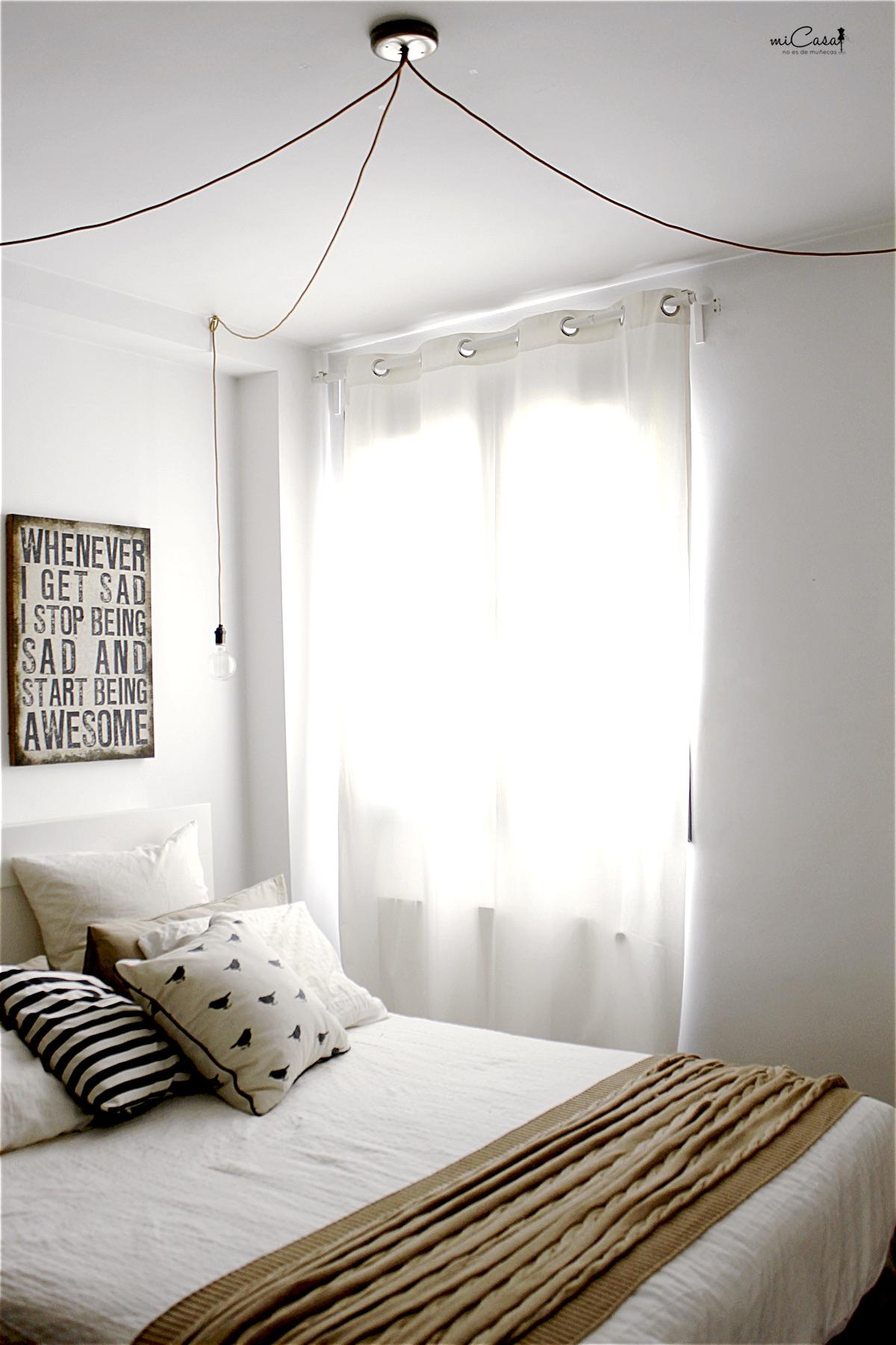 Diy sobre c mo hicimos el apa o para sacar las 3 luminarias de nuestro dormitorio mi casa no - Lamparas de techo habitacion ...