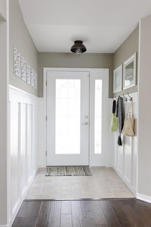 Paredes con friso mi casa no es de mu ecas blog y asesor a online en decoraci n e interiorismo - Decoration de couloir ...