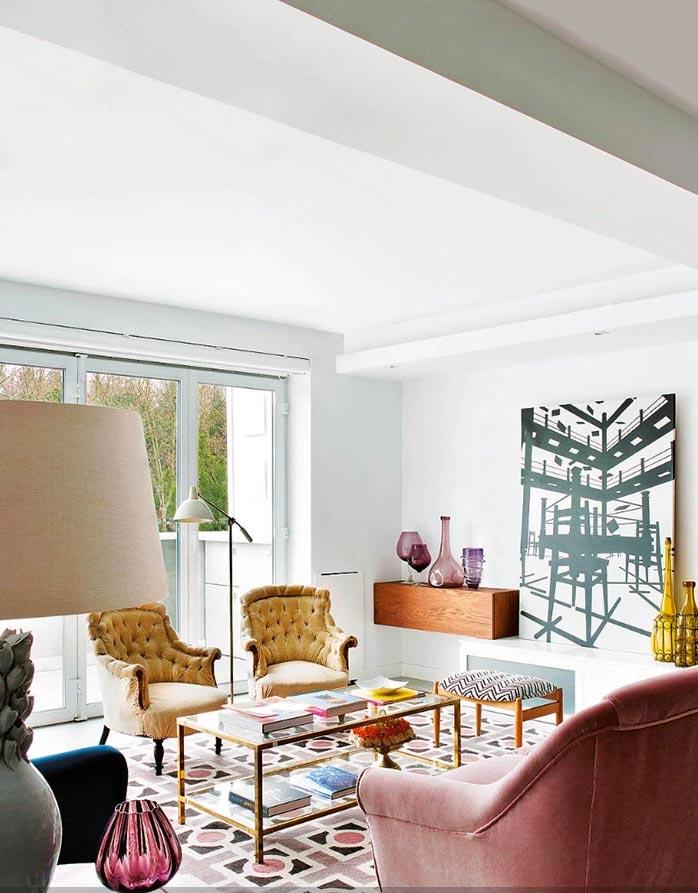 House tour la vivienda de estilo ecl ctico y el sof rosa mi casa no es de mu ecas blog y - Decoracion eclectica ...
