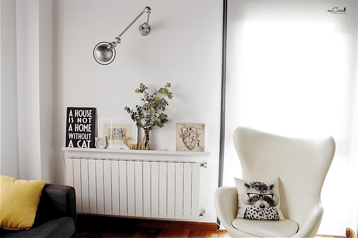Disimular el radiador con una balda mi casa no es de for Decorar radiadores