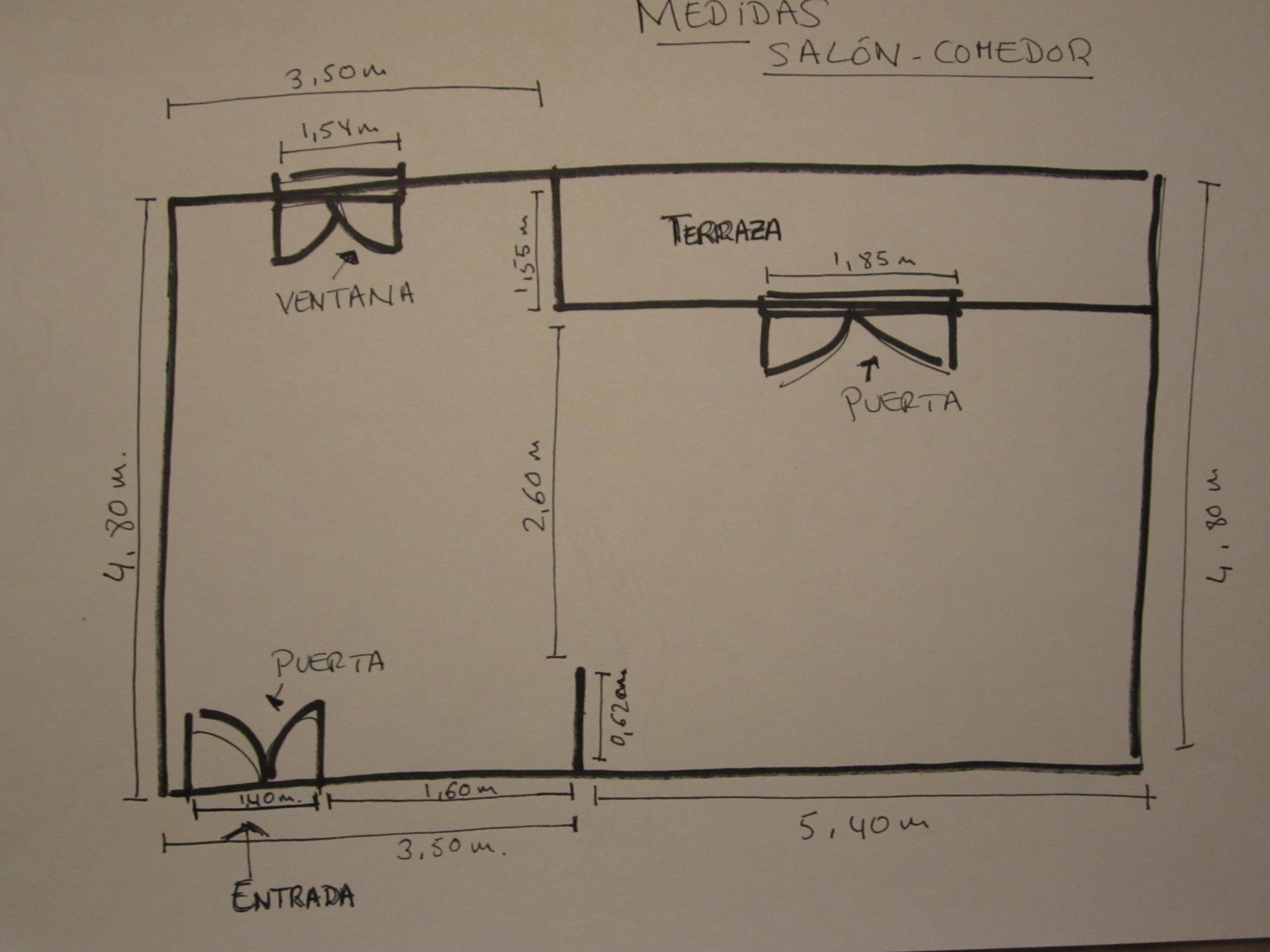 Plano piso argüelles