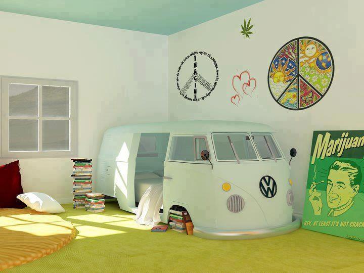 cama furgo hipiee