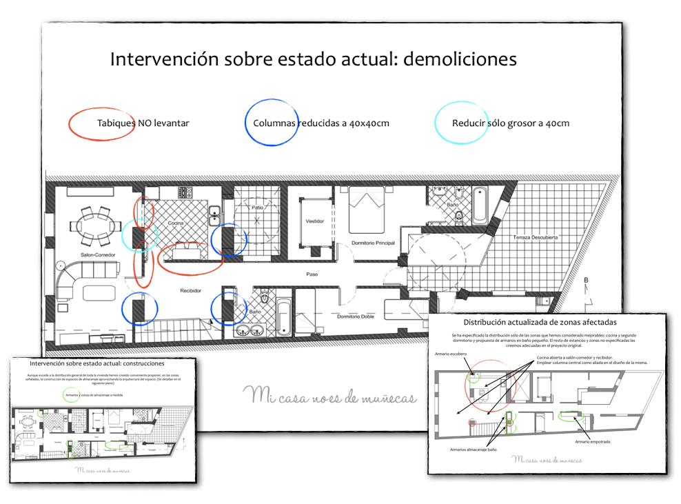 Proyecto de asesor a distribuci n de una vivienda for Distribucion casa alargada