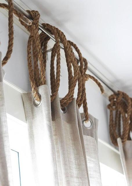 cuerdas en las cortinas