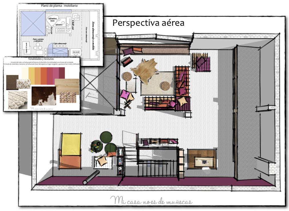Proyecto de asesor a buhardilla de un caser o mi casa for Curso de interiorismo online