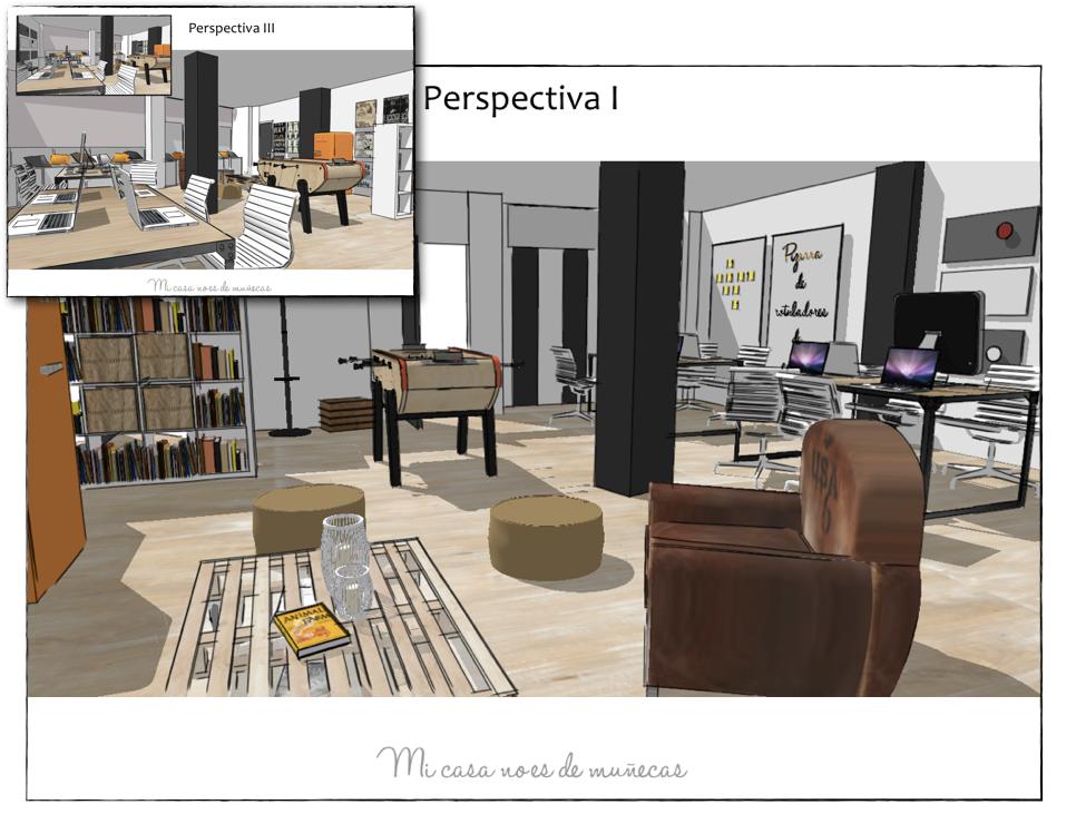 Proyecto de asesor a decoraci n de una oficina mi casa - Proyectos de interiorismo online ...