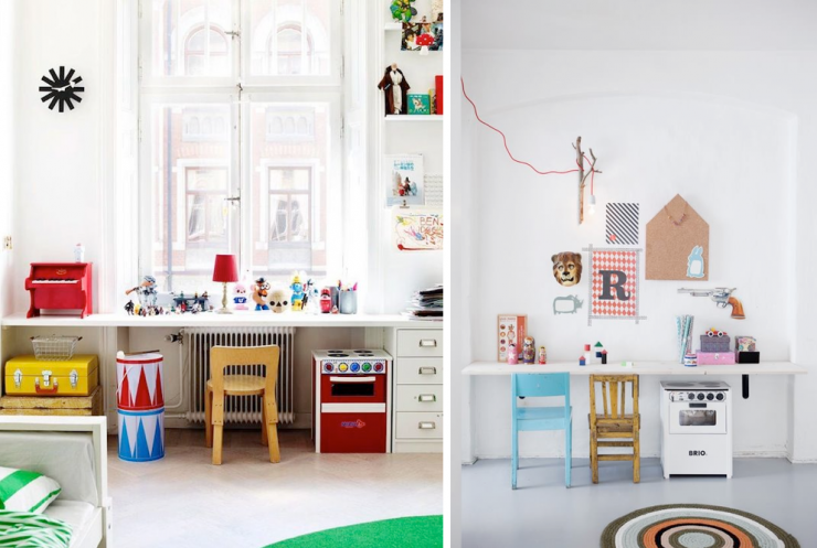 Inspiraci n escritorios infantiles mi casa no es de for Mesa escritorio infantil
