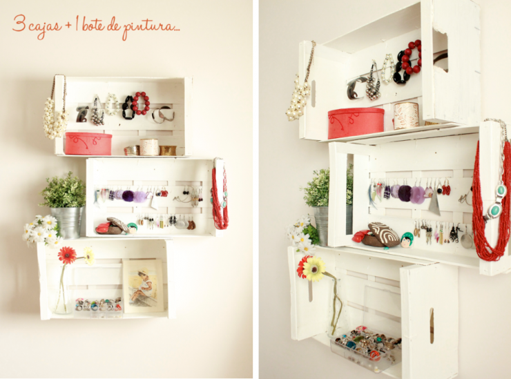 Mi estanter a hecha con cajas mi casa no es de mu ecas - Cajas de fruta decoracion ...