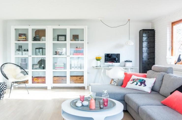 Living estudio en estilo n rdico mi casa no es de for Interiorismo estilo nordico
