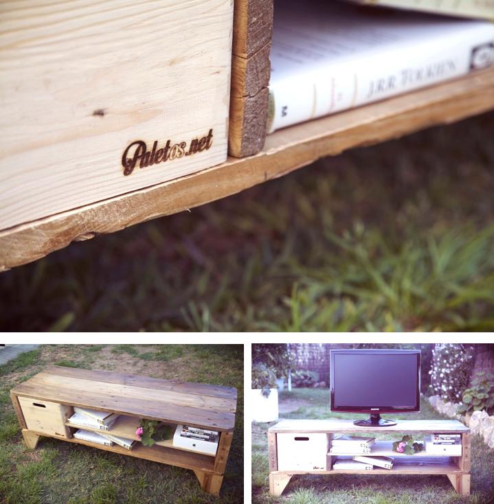 Mesa TV con pales