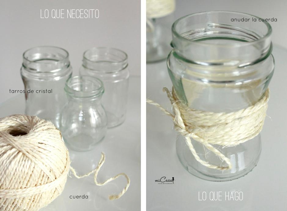 DIY-tarros cristal con cuerda 00