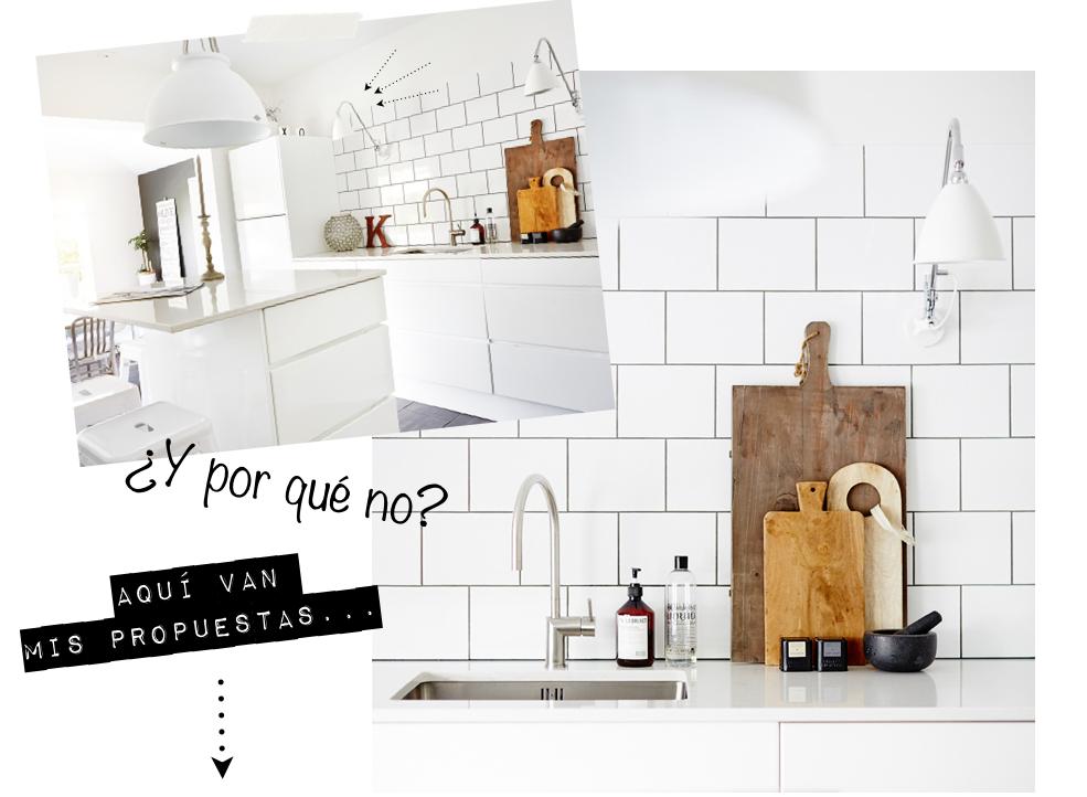 Apliques de pared junto al fregadero mi casa no es de - Apliques de cocina ...