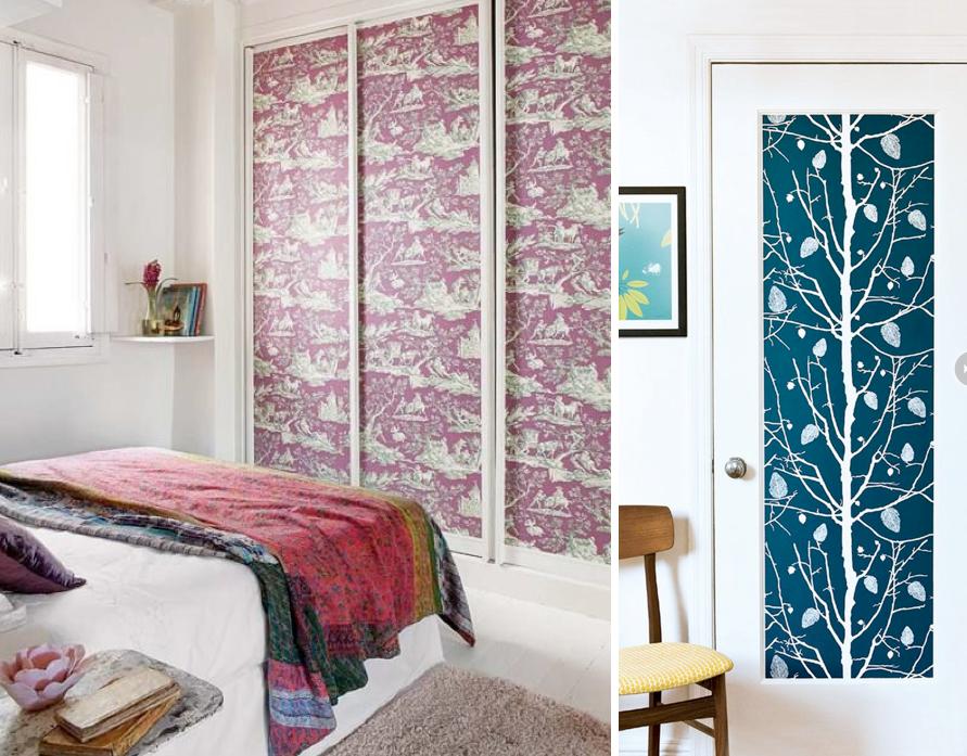 Decorar las puertas de armarios selecci n de papeles for Ideas para decorar puertas de salon