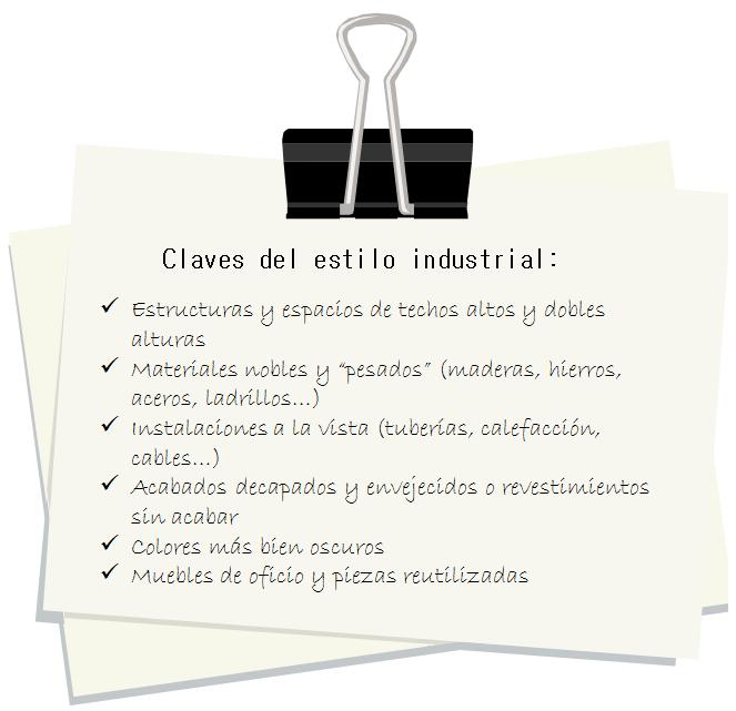 Claves del estilo industrial