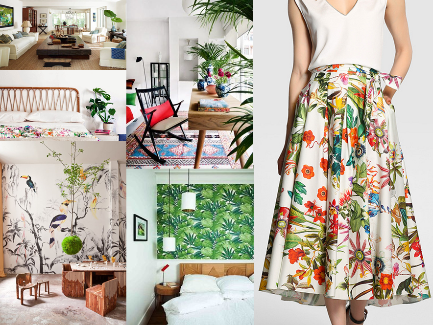 Tropical style - moodboard 01