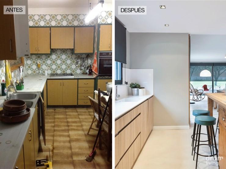 Antes despu s de una casa en gerona mi casa no es de for Pintar muebles de cocina antes y despues