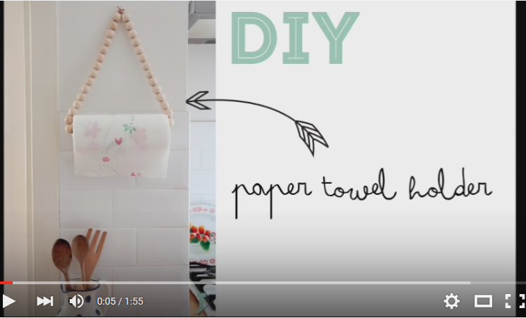 DIY colgador de rollos de papel video