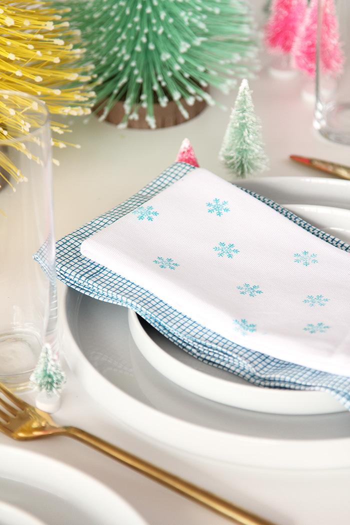 DIY - servilletas estampado navideño 01