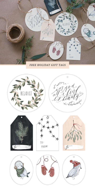 Etiquetas imprimibles gratis de Navidad3