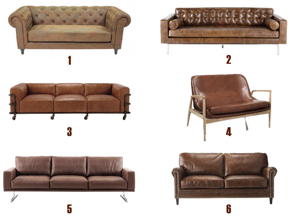 Shopping list - sofás piel marron