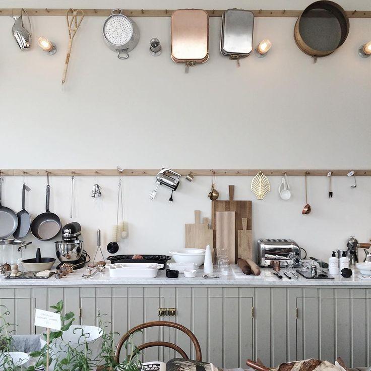 Percheros para los cacharros de cocina mi casa no es de for Cacharros de cocina