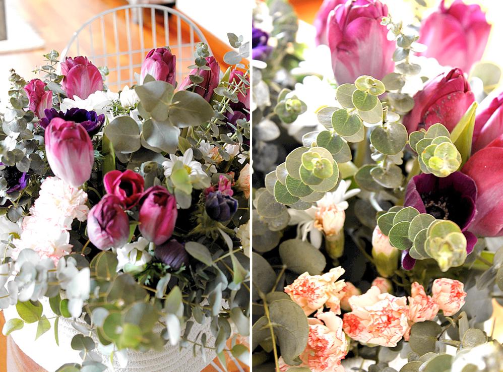 Centro mesa flores en casa 14