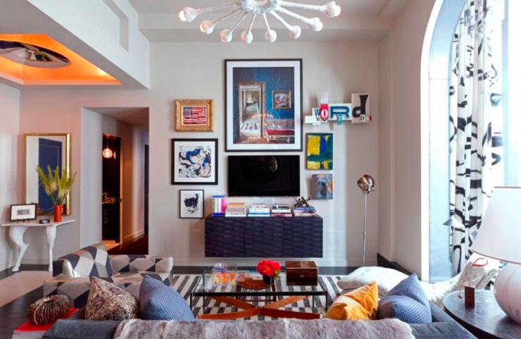 Opciones para poner la tele en el sal n mi casa no es de - Como colocar cuadros en un salon ...
