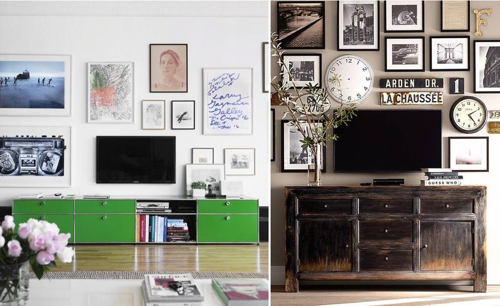 Opciones para poner la tele en el sal n mi casa no es de - Que poner encima de una comoda ...