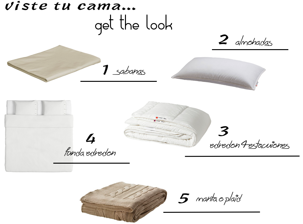 Viste tu cama - get the look