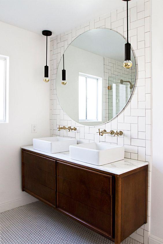 Consola midcentury como mueble bajo lavabo 02