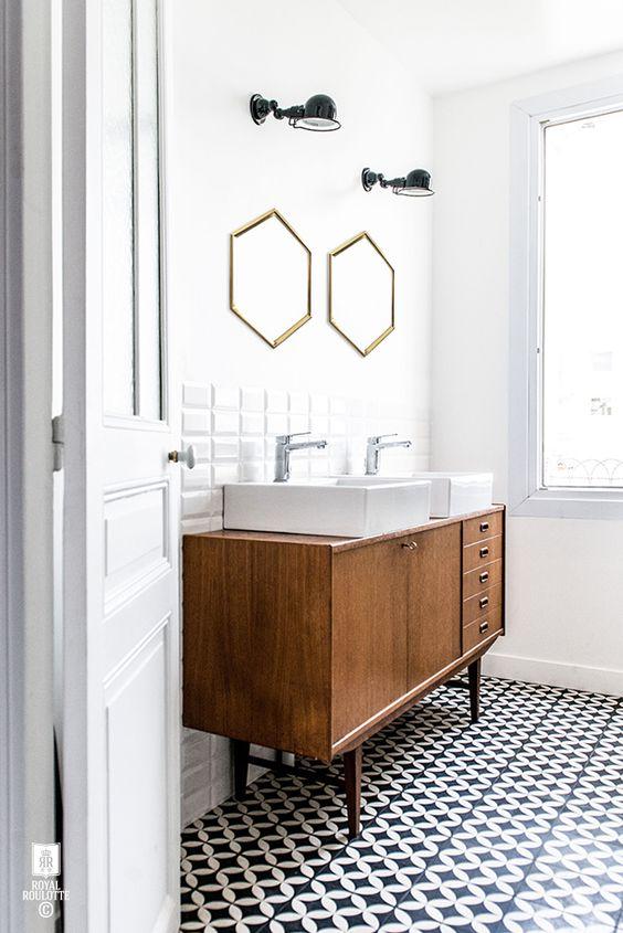 Consola midcentury como mueble bajo lavabo 03
