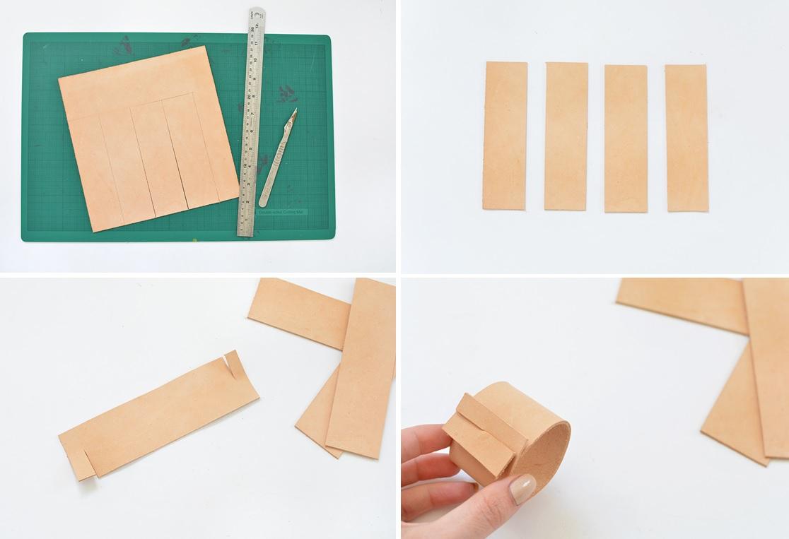 DIY servilletaro de cuero 03