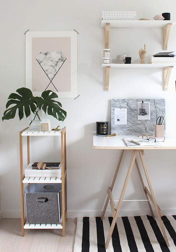 Inspiraci n escritorios con borriquetas mi casa no es - Mi casa no es de munecas ...