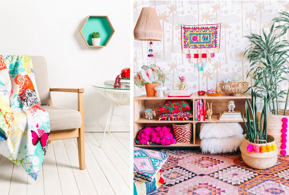 Es tendencia un boho lleno de color mi casa no es de for Decoracion hippie chic