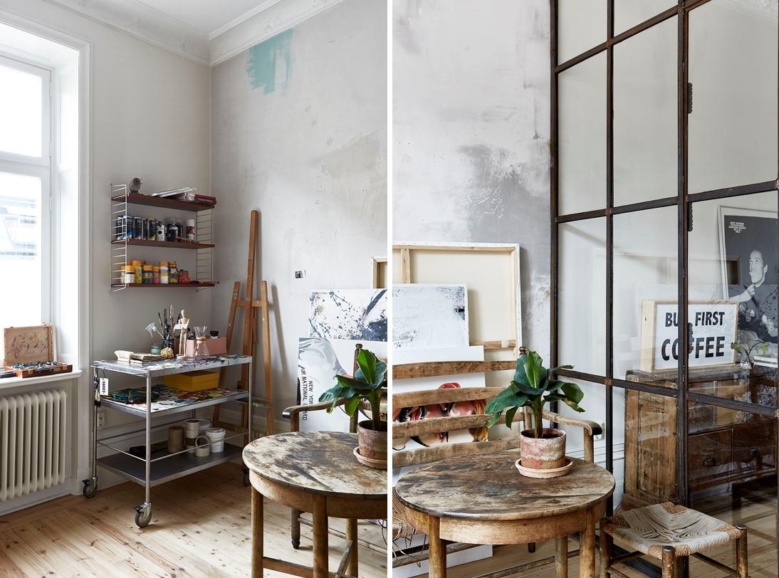 Apartamento nordico-industrial en Estocolmo 10