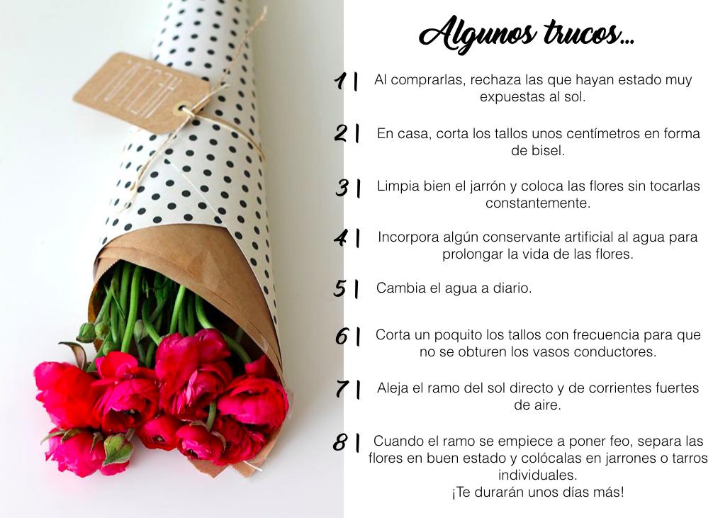 Trucos para prolongar la vida de las flores