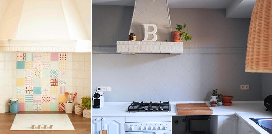Pintar azulejos en cocina y ba o 03 mi casa no es de - Pintar azulejos cocina ...