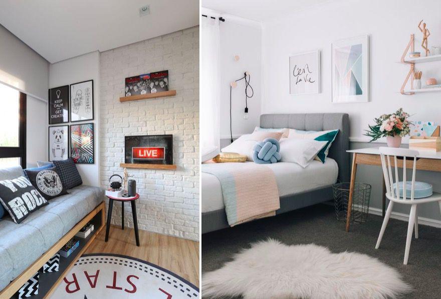 C mo distribuir y decorar una habitaci n juvenil mi casa - Como decorar una habitacion pequena juvenil ...